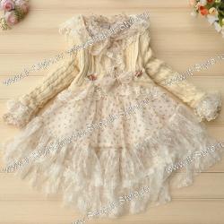 Нарядное платья для девочки и красивое болеро с аппликациями и акксессуарами