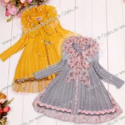 Изысканное, эксклюзивное легкое пальто для девочек