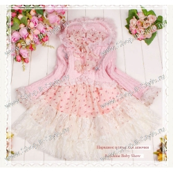 Комплект-нарядное платье и болеро для девочек