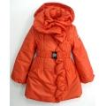 Красное итальянское пальто для девочек